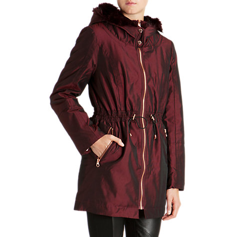 Buy Ted Baker Ruye Faux Fur Trimmed Parka Coat Online at johnlewis.com