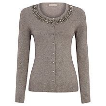 Buy Planet Jewel Neck Cardigan, Neutral Online at johnlewis.com