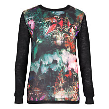 Buy Ted Baker Anela Bejewelled Wing Print Sweatshirt, Black Online at johnlewis.com