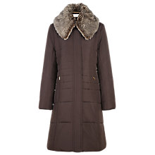 Buy Planet Faux Fur Collar Coat, Brown Online at johnlewis.com