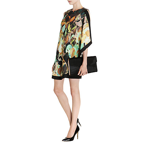 Buy Ted Baker Breeda Retro Square One Sided Draped Tunic Dress, Black Online at johnlewis.com