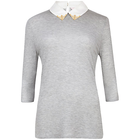 Buy Ted Baker Embellished Collar Top Online at johnlewis.com