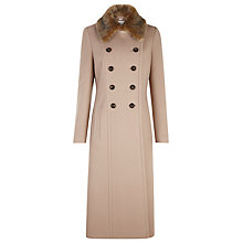 Buy Planet Long Wool Coat, Neutral Online at johnlewis.com