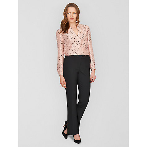 Buy Jaeger Boot Cut Trousers, Black Online at johnlewis.com