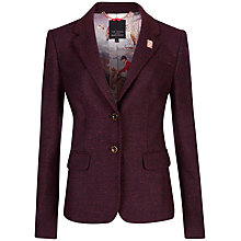 Buy Ted Baker Elbow Patch Jacket, Oxblood Online at johnlewis.com