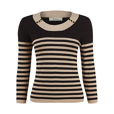 Buy Precis Petite Stripe Knitted Jumper, Multi Online at johnlewis.com