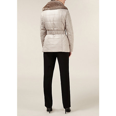 Buy Planet Short Champagne Coat, Neutral Online at johnlewis.com