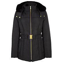 Buy Planet Short Padded Coat, Black Online at johnlewis.com