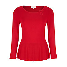 Buy Kaliko Peplum Jumper, Red Online at johnlewis.com