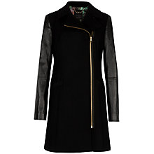 Buy Ted Baker Alycia Asymmetric Coat, Black Online at johnlewis.com