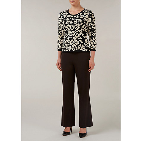 Buy Precis Petite Floral Jacquard Jumper, Multi Online at johnlewis.com