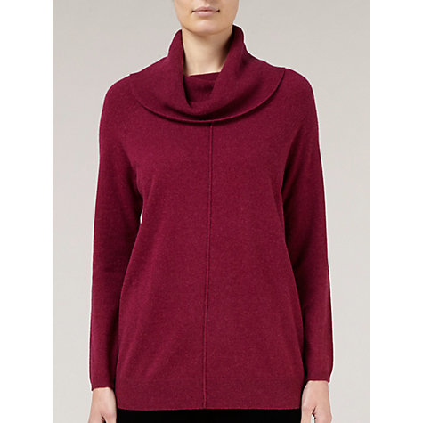 Buy Windsmoor Cowl Neck Jumper, Magenta Online at johnlewis.com