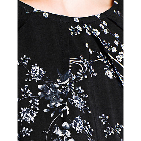 Buy Mango Oriental Flowy Dress, Black Online at johnlewis.com