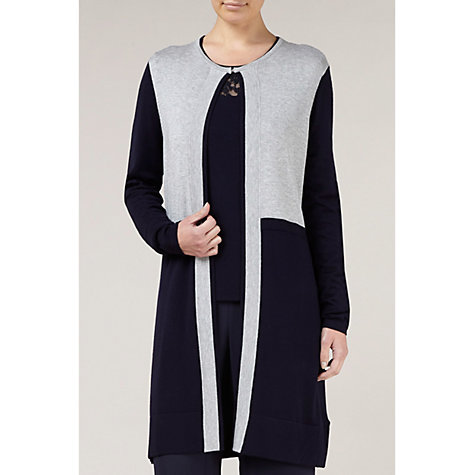 Buy Windsmoor Colour Block Cardigan, Grey Online at johnlewis.com