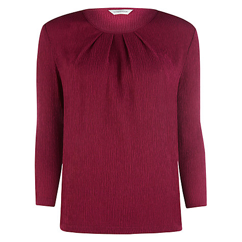 Buy Windsmoor Textured Top, Red Online at johnlewis.com