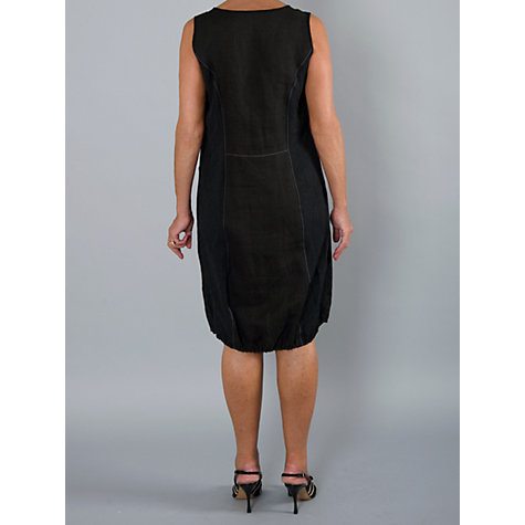 Buy Chesca Linen Zip Dress, Black Online at johnlewis.com