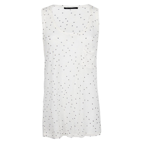 Buy Mango Star Print T-Shirt, Natural White Online at johnlewis.com