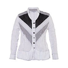 Buy Chesca Chevron Paneled Shirt, White Online at johnlewis.com
