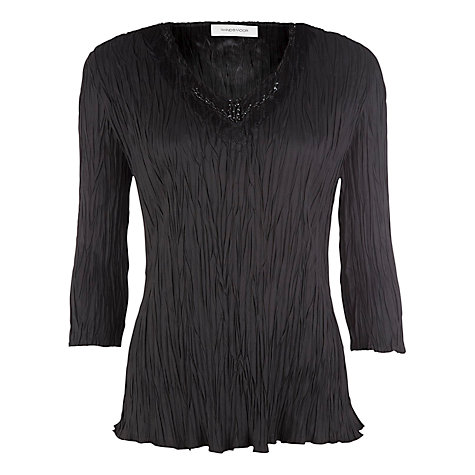Buy Windsmoor Crinkle Top, Black Online at johnlewis.com
