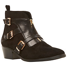 Buy Dune Pendulum Suede Ankle Boots, Black Online at johnlewis.com