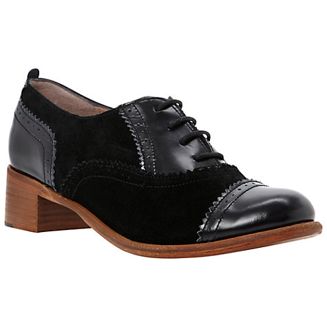 Buy Dune Lanelle Brogue Shoes, Black Online at johnlewis.com