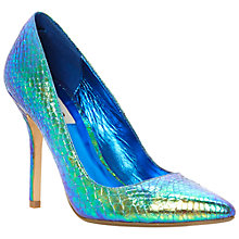 Buy Dune Burst Stiletto Court Shoes, Green Metallics Online at johnlewis.com