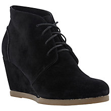 Buy Dune Praff Wedge Ankle Boots, Black Online at johnlewis.com