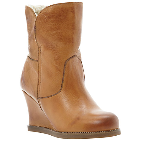 Buy Dune Pan Wedged Heel Calf Boots Online at johnlewis.com