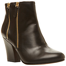 Buy Dune Noras Ankle Boots, Black Leather Online at johnlewis.com