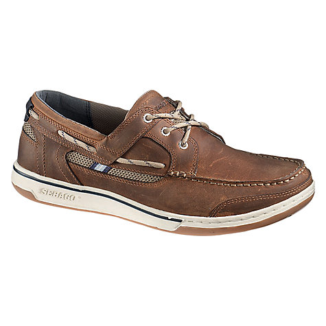 Buy Sebago Triton Eyelet Deck Shoes, Walnut Online at johnlewis.com