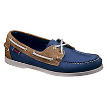 Buy Sebago Spinnaker Leather Boat Shoes, Blue/Sand Online at johnlewis.com