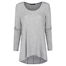 Buy Mango Scoop Neck T-Shirt, Med Grey Online at johnlewis.com