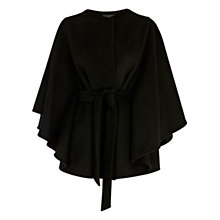 Buy Coast Livia Cape Coat, Black Online at johnlewis.com