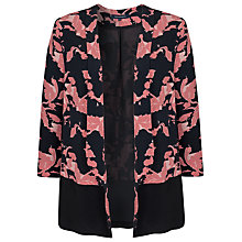 Buy French Connection Vine Bloom Jacket, Blush/Black Online at johnlewis.com