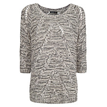 Buy Mango Round Neck Jumper, Dark Grey Online at johnlewis.com