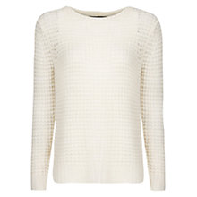 Buy Mango Angora Wool Sweater, White Online at johnlewis.com
