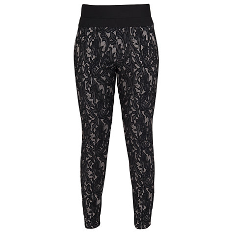 Buy French Connection Jacquard Lily Trousers, Black/Taupe Online at johnlewis.com