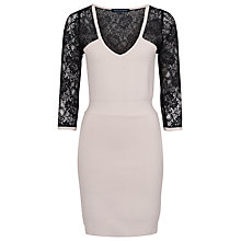 Buy French Connection Lace Danni Dress, Snowball/Black Lace Online at johnlewis.com