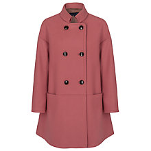 Buy French Connection Oversized Wool Coat, Desert Rose Online at johnlewis.com