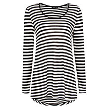 Buy Mango Oversize Stripe T-Shirt, Black Online at johnlewis.com