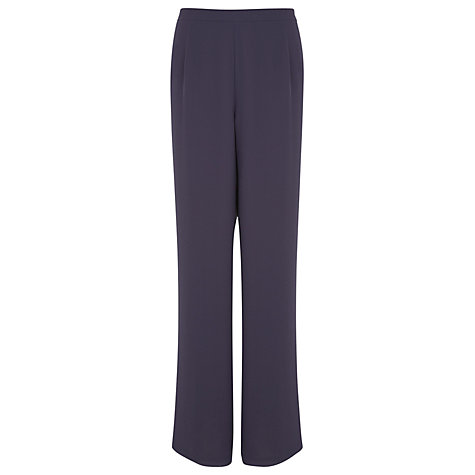 Buy Jacques Vert Soft Crepe Trousers, Grey Online at johnlewis.com
