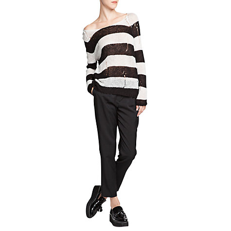 Buy Mango Openwork Stripe Jumper Online at johnlewis.com
