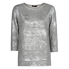 Buy Mango Metallic Sweatshirt, Medium Grey Online at johnlewis.com