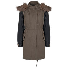 Buy French Connection Military Parka Coat, Tort/Black Online at johnlewis.com