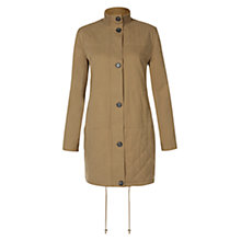 Buy Hobbs Rib Trim Parka, Butter Beige Online at johnlewis.com