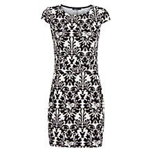 Buy Mango Fitted Jacquard Dress, Black Online at johnlewis.com