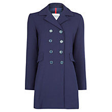 Buy Mango Double Breasted Coat, Navy Online at johnlewis.com