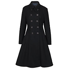 Buy French Connection Wool Flared Coat, Black Online at johnlewis.com