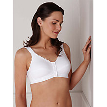 Buy Royce 1010 Cotton Comfi-Bra, White Online at johnlewis.com
