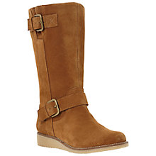 Buy Dune Rits Calf Boots, Tan Online at johnlewis.com